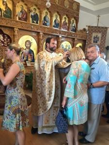 botez la biserica sfanta cruce