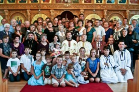 credinciosii bisericii sfanta cruce din florida